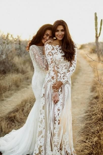 Hippie Style Beach Wedding Dresses   Mother Of The Bride Dresses