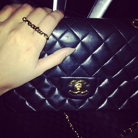 Lucy Watson s black quilted Chanel. www.handbag.com  e209685a69c11