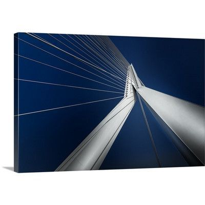 Canvas On Demand Rotterdam Blue Harmony by Michael Jurek Graphic Art on Canvas Size: