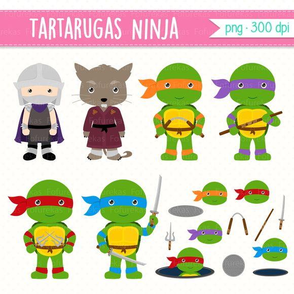 Kit Digital Tartarugas Ninja Tartarugas Ninjas