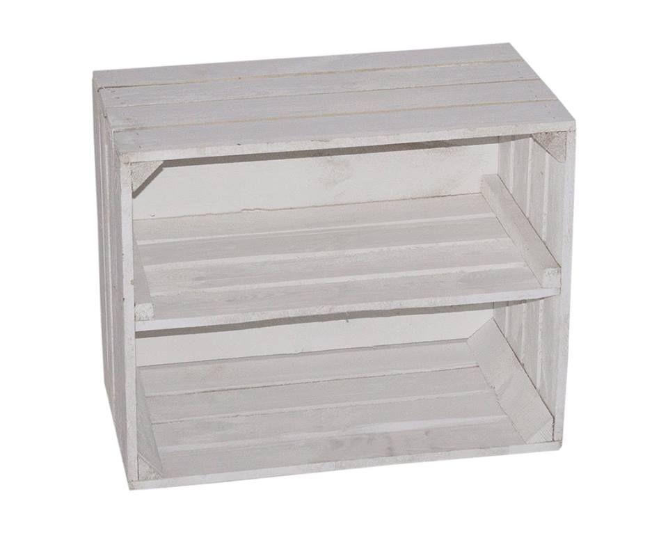 Schöne Weiße Holzkiste Für Schuh Und Bücherregal50 X 40 X