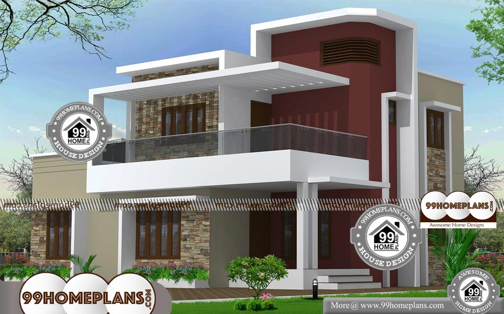 New Contemporary House Plans With Double Floored Modern Design Free Latest House Designs Contemporary House Beautiful Home Designs