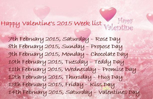 happy valentine week list 2015 schedule with date and time happy valentine week days list