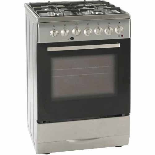 classique freestanding oven with gas top 60cm stainless steel ... - Delonghi Cucine A Gas