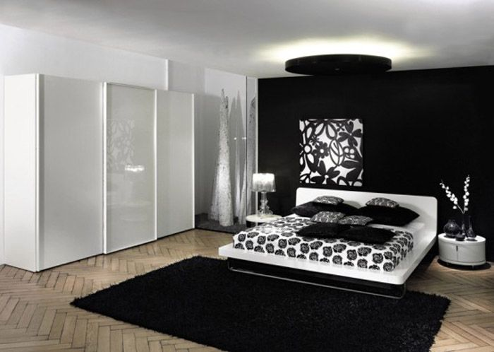 bedroom decorating ideas in black and white - Black And White Bedroom Decor