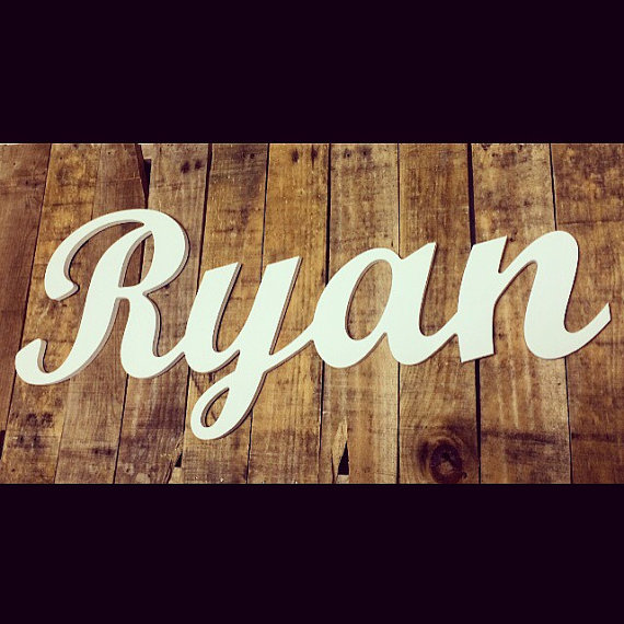 Custom Wooden Names in Script Dorm Decor by ASimplePlaceOnMain
