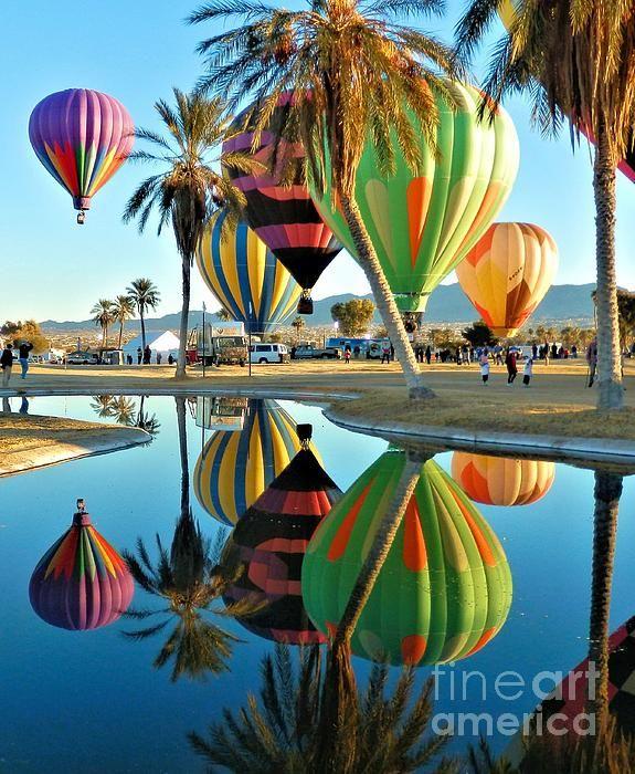 Balloons By The Pond Lake havasu city, Balloons, Hot air