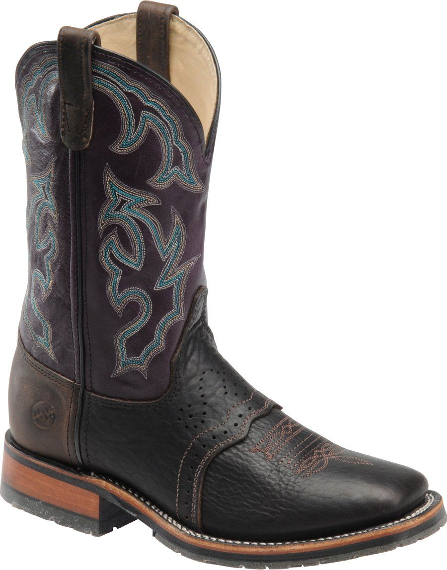 2615f519a68 DH4302 Double H Men's Bison ICE Western Ropers - Briar | Double H ...