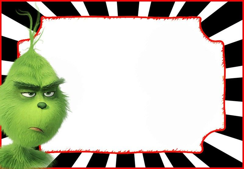 The Grinch 2018 Invitation Cards Invitation World Grinch Christmas Cards Birthday Party Invitations Printable Grinch Party