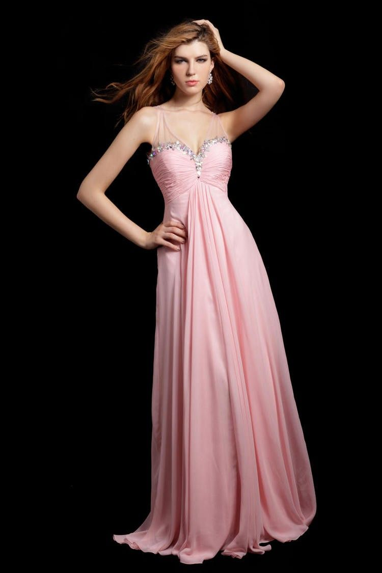Angela & Alison 21008 embellished sweetheart strapless fitted ruched bodice  with flowing chiffon skirt in cotton candy pink available with  same-day-shipping ...