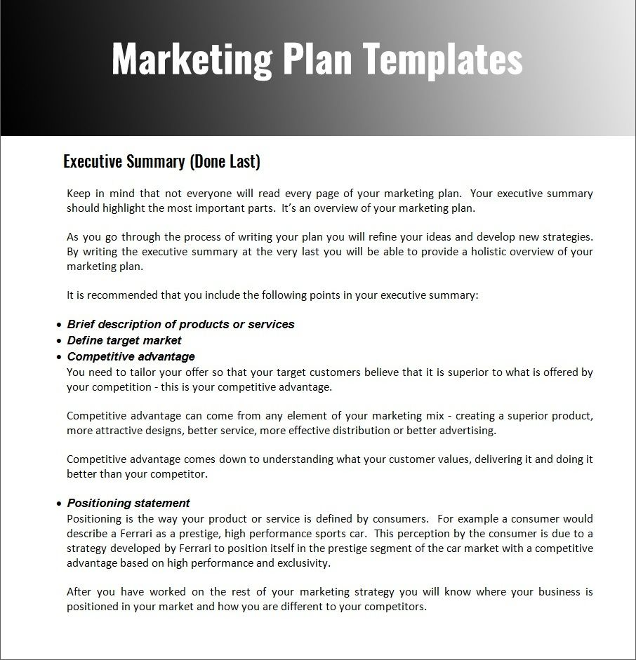 Simple Marketing Plan Template Marketing plan template