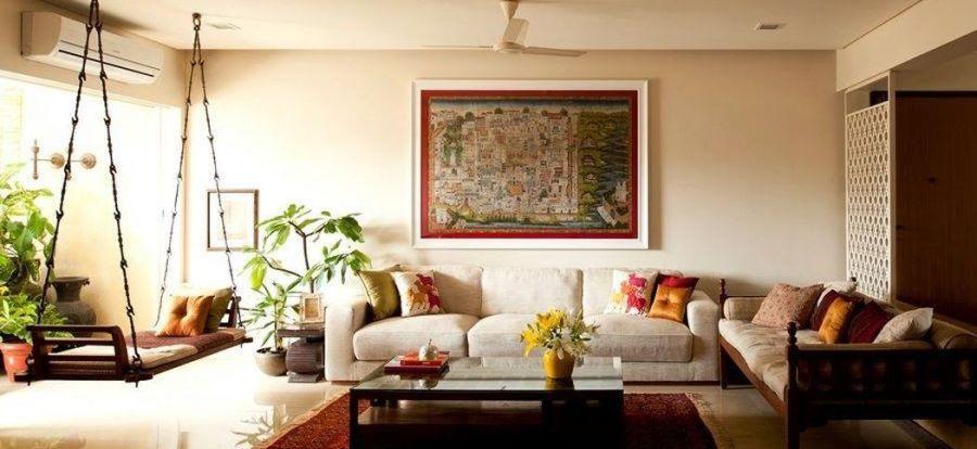 34 Beautiful Indian Home Decor Ideas - HOUSEDCR #indischeswohnzimmer