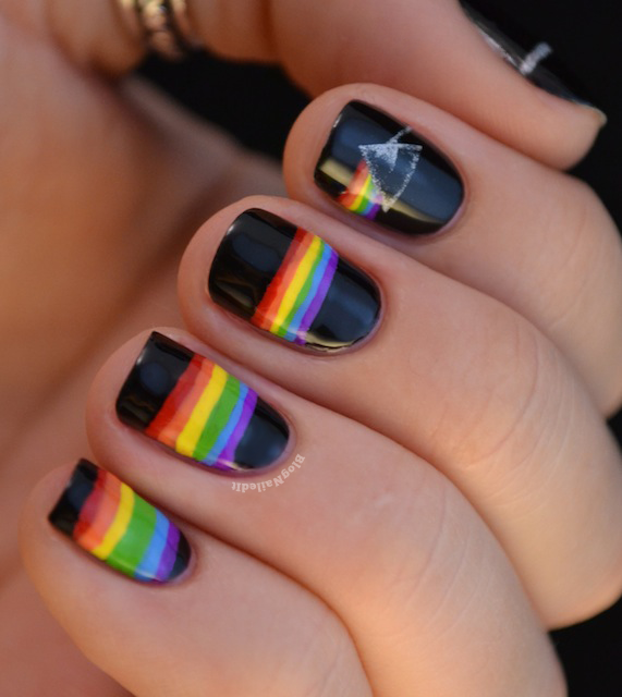 The Dark Side of the Moon - That's impressive. #nail #art