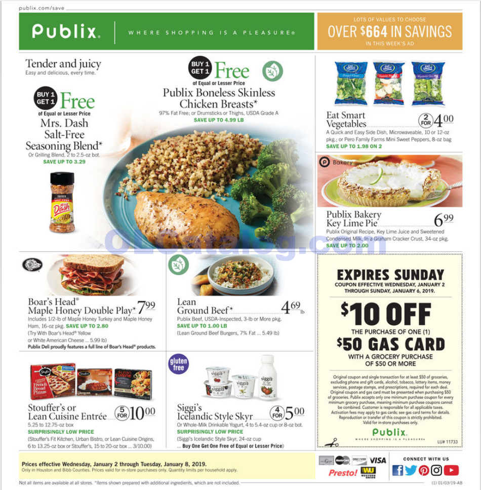 Publix Weekly Ad January 2 8 2019 View The Latest Flyer And Weekly Circular Ad For Publix Here Likewise You Can Find The Digital Coupons Grocery Savings