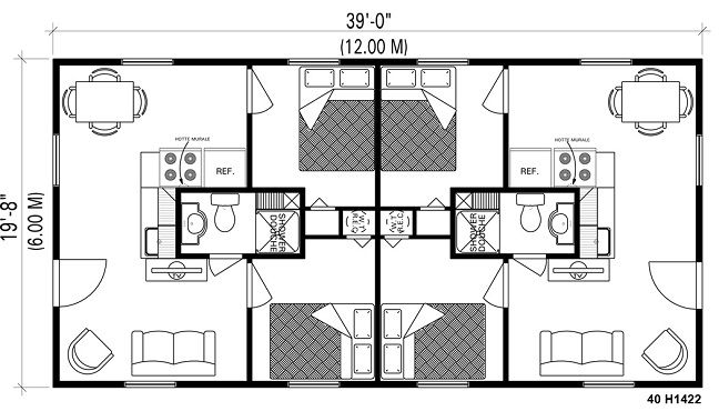 tiny floor plan House plans Pinterest Guest cabin, Cabin and House
