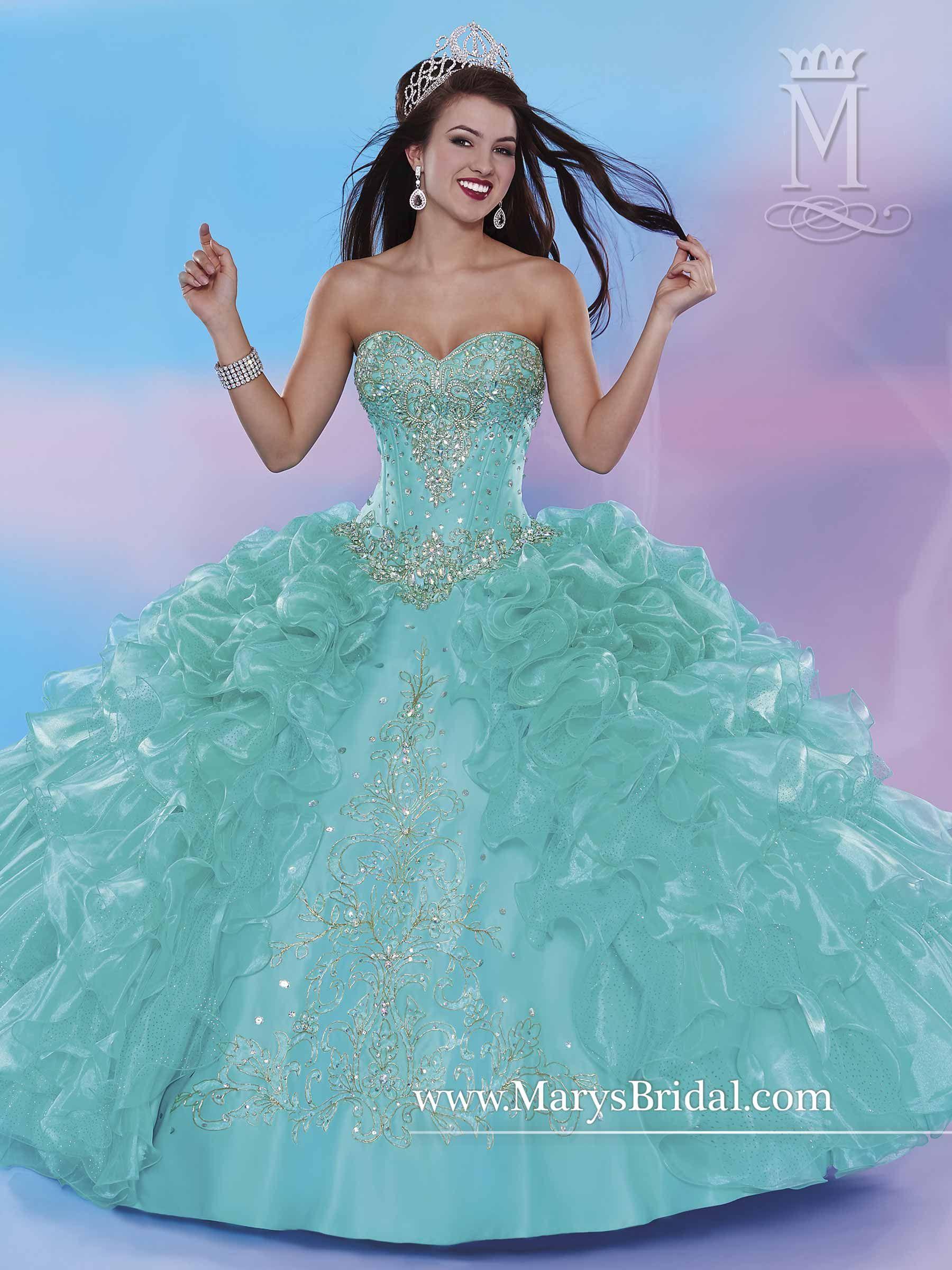 Quinceanera - Beloving Style# 4679 Aqua (6,10) Coral (8 ...