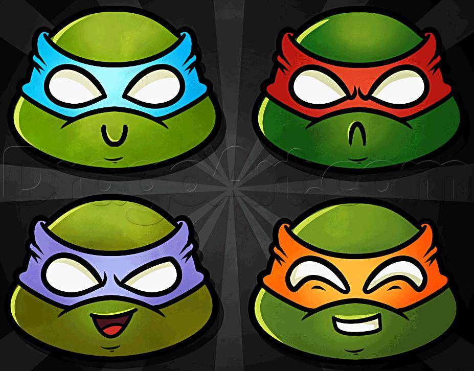 How To Draw Chibi Teenage Mutant Ninja Turtles By Dawn With