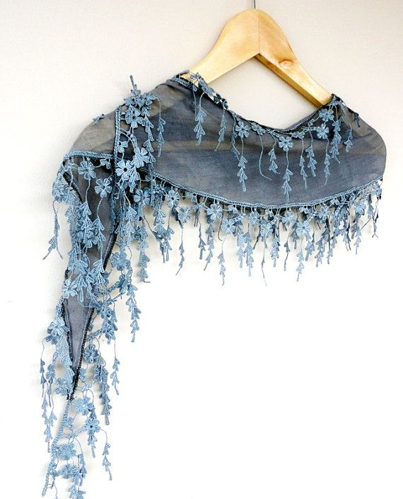 Cotton Scarf Adorned Fringed