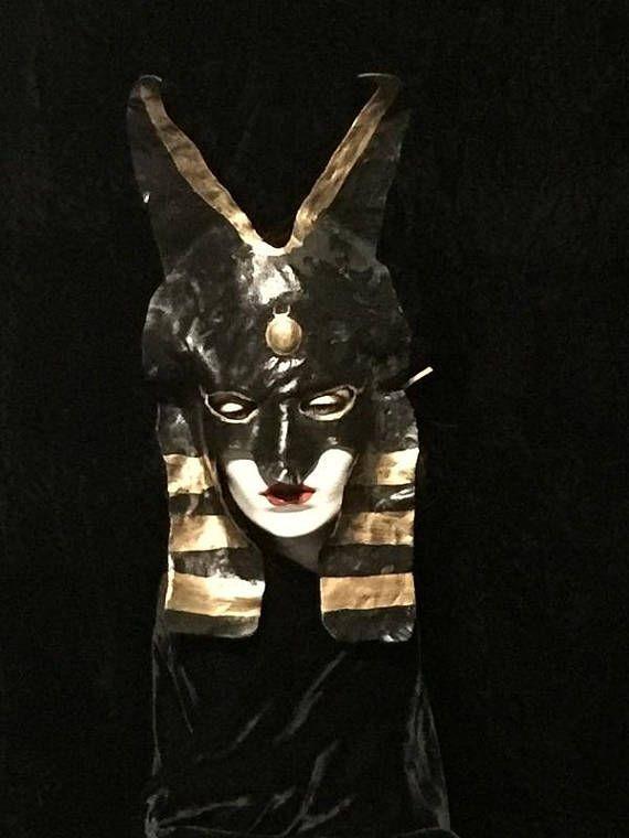 vintage leather anubis mask old jackal carnival halloween mask