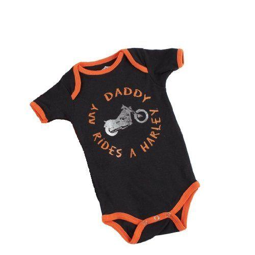 Harley Davidson Bodysuit My Daddy Rides A Harley Infant Onesie - Listing price: $19.95 Now: $10.00