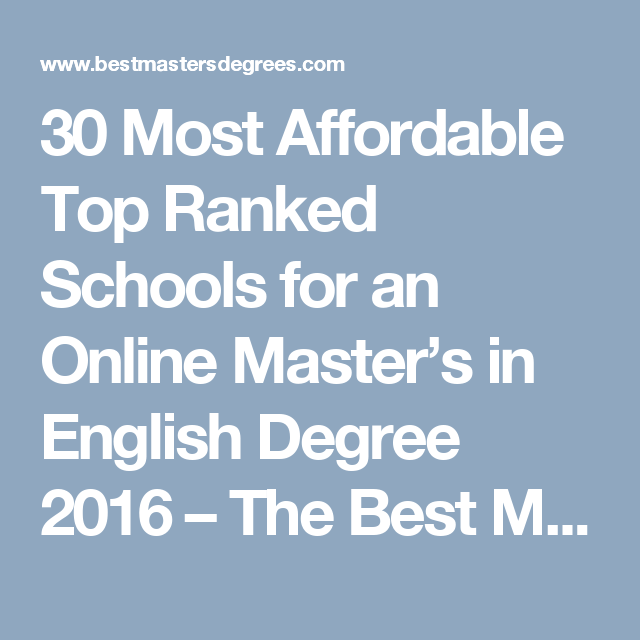 30 Most Affordable Top Ranked Schools for an Online Master\'s in ...