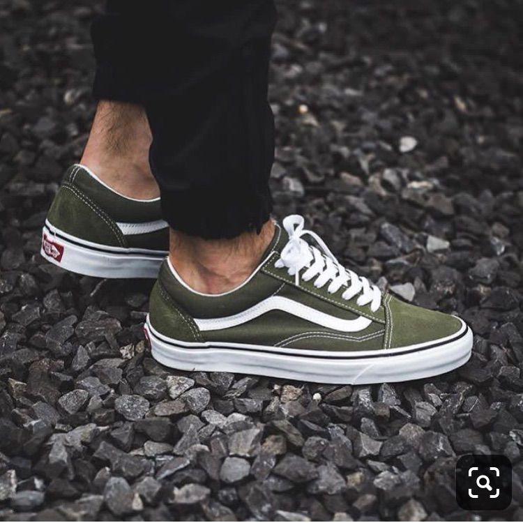 Vans Shoes | Olive Green Old Skool Vans