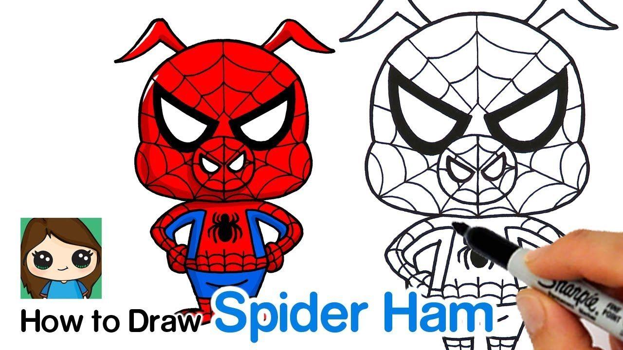 How to Draw Spider Ham Spider Man Into the Spider Verse