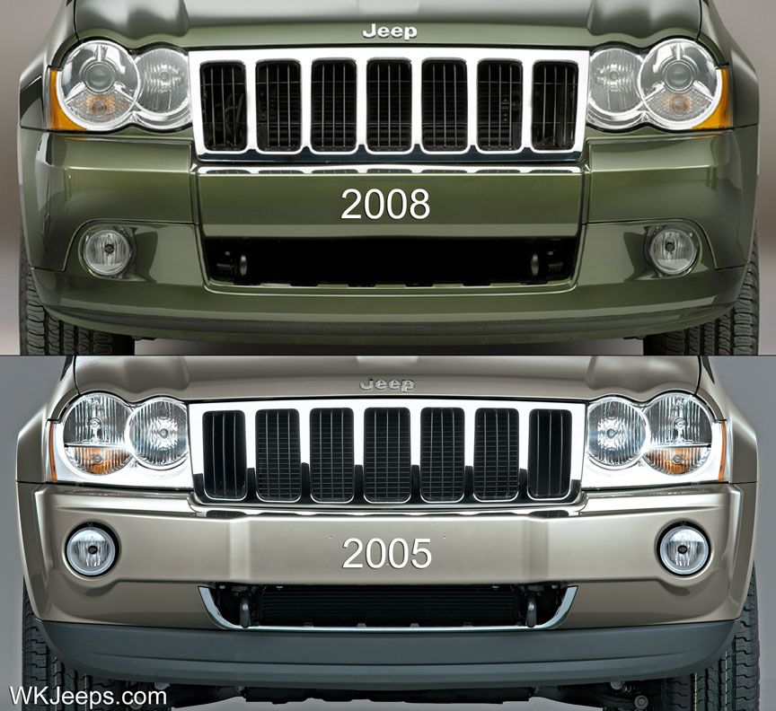 05 07 Grill Amp 08 10 Grill Jeep Wk Jeep Grand Cherokee