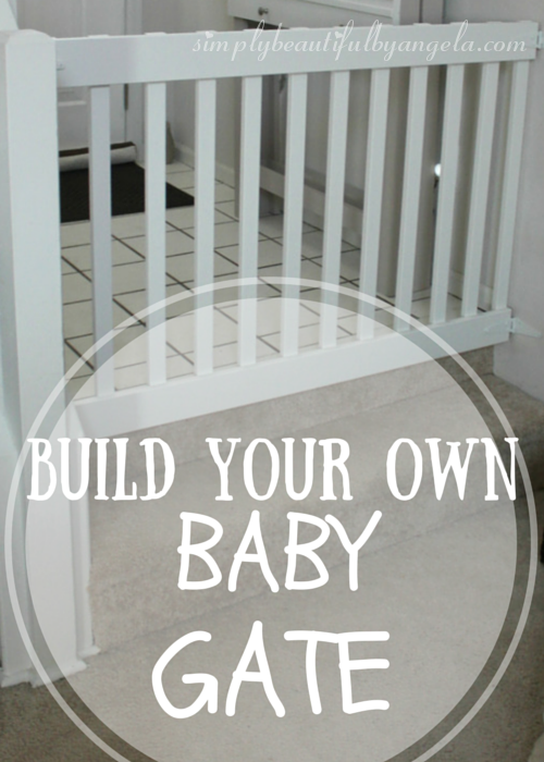 Simply Beautiful By Angela: DIY Baby Gate. Use Wood For Outdoor Friendly  Gate