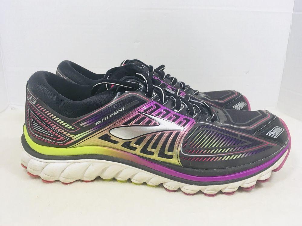 80be93d4c947b BROOKS Glycerin 13 3D Fit Print Metallic Women s Running Shoes Sz 11 ...