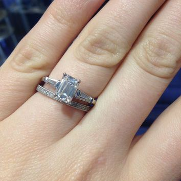 Wedding Bands For Emerald Cut Engagement Rings With Baguettes
