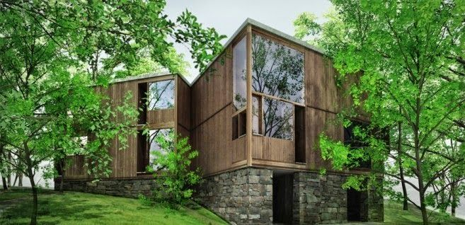 Architecture As Aesthetics Fisher House By Louis Kahn Fisher House Architecture House In The Woods