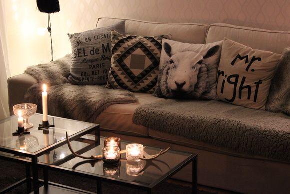 soffbord,vittsjö,ikea,soffa,kivik,renhorn,iittala,ljuslyktor ...