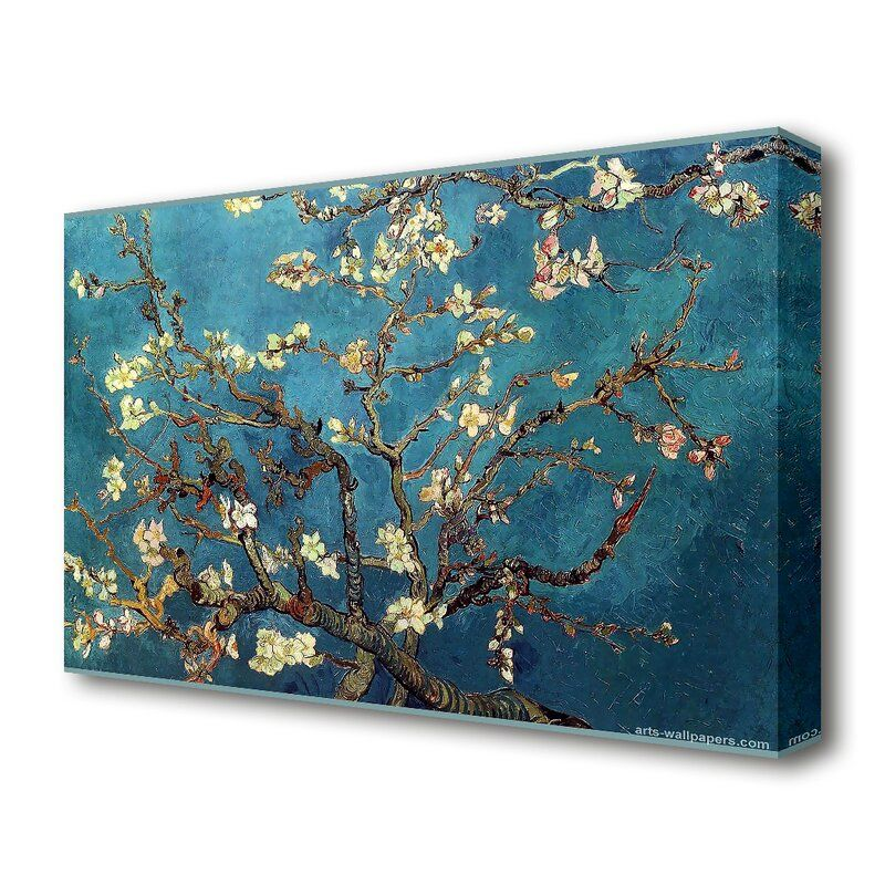 East Urban Home 'Almond Branches' by Vincent Van Gogh Oil Painting Print on Wrapped Canvas & Reviews | Wayfair.co.uk