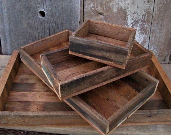 reclaimed wood tray - Reclaimed Wood Tray AZAFATES DE MADERA Pinterest Vassoio Di