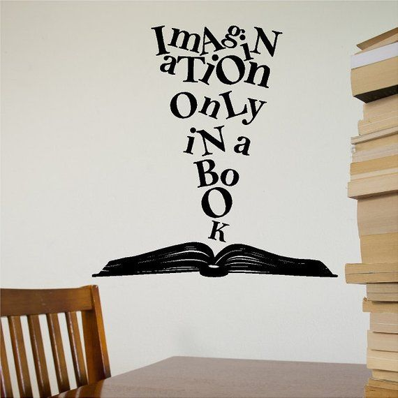 imagination only in a book wall decal removable book wall sticker