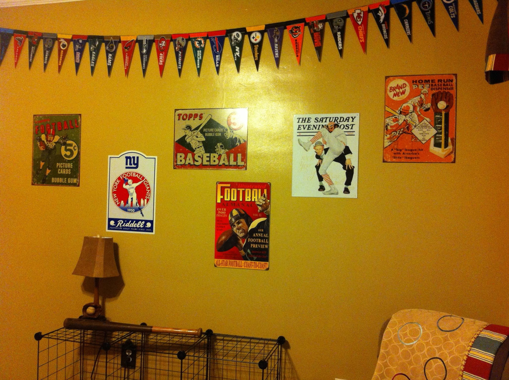 Sports decor- Vintage signs for my son\'s sports bedroom and mini ...