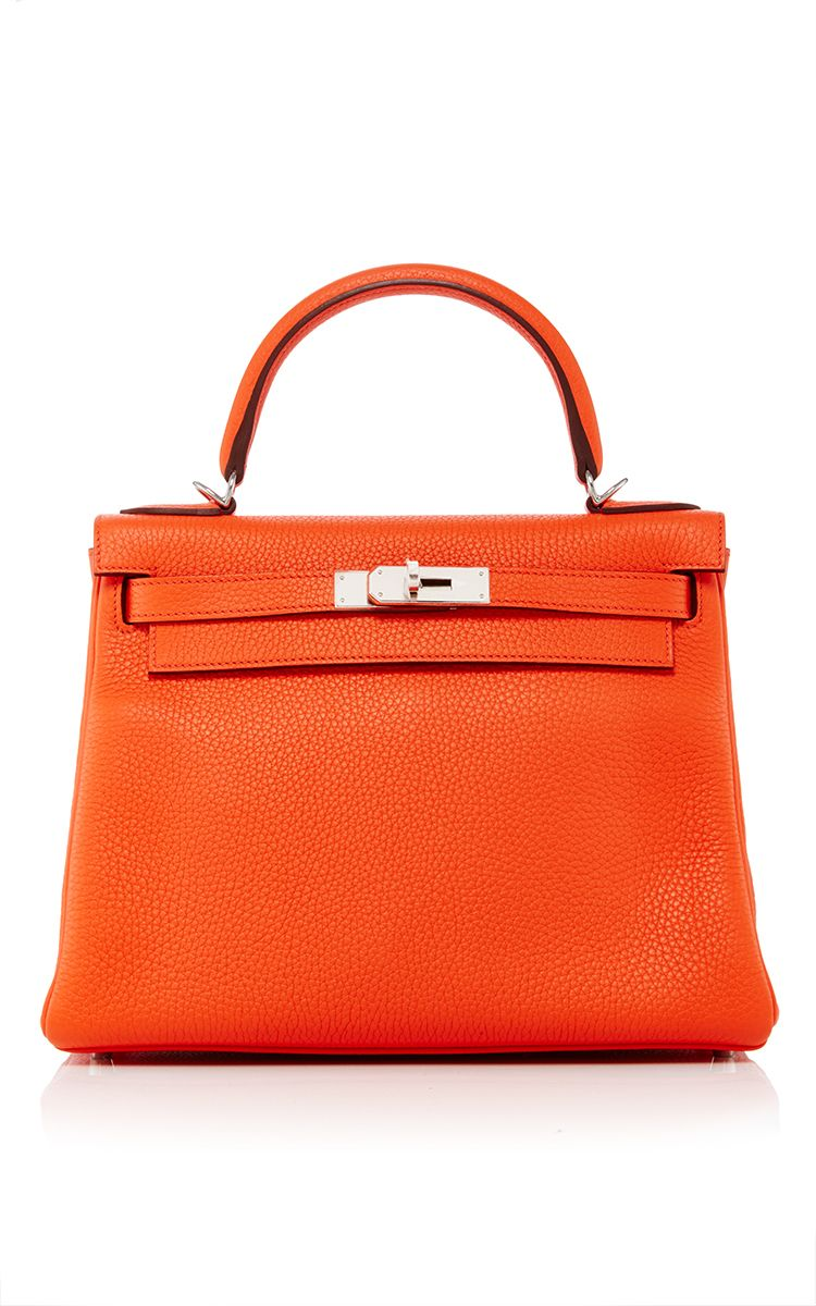 aa82889f77c7 Hermes 28cm Orange Poppy Clemence Leather Retourne Kelly by HERITAGE  AUCTIONS SPECIAL COLLECTION for Preorder on Moda Operandi