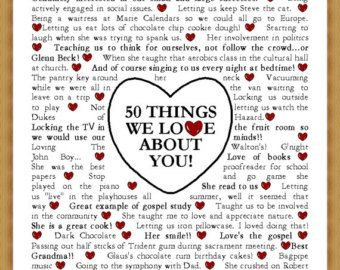 40 Things We Love About You In Honor Of Your 40th Birthday Etsy Diy Birthday Gifts For Him Birthday Gift For Him Cute Date Ideas