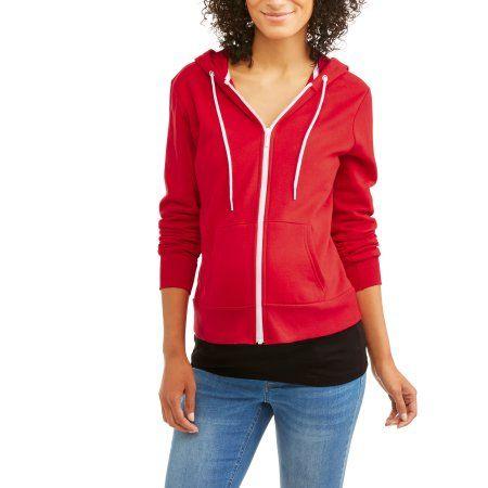 67ab64e2bcef3 Faded Glory Maternity Zip Up Hooded Sweatshirt, Women's, Size: Medium, Red