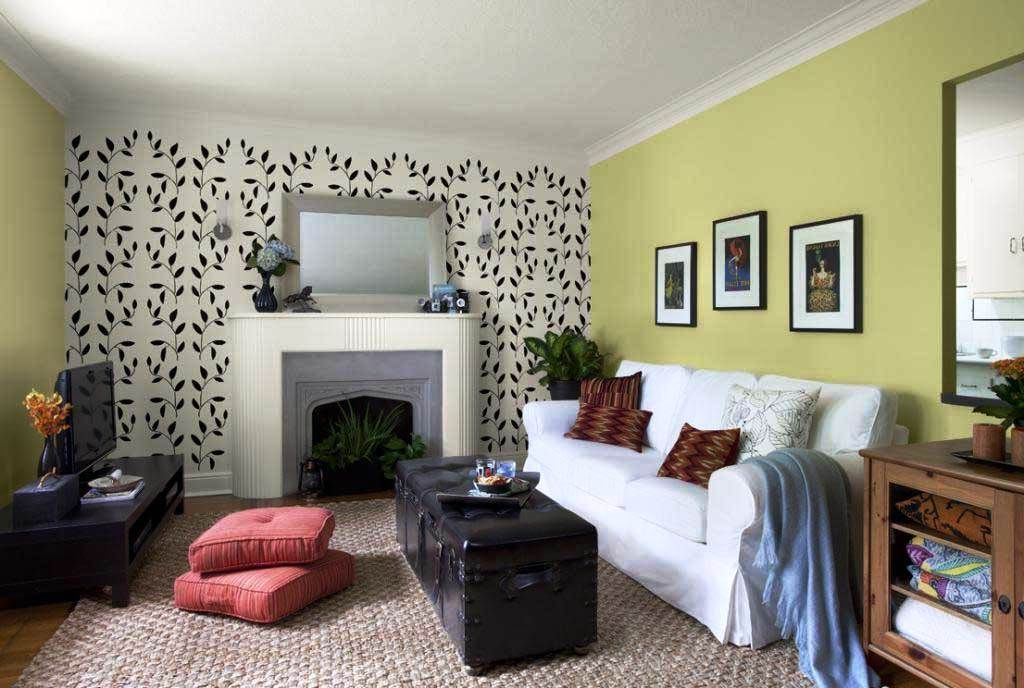 Contoh Desain Wallpaper Dinding Ruang Tamu Home Decor