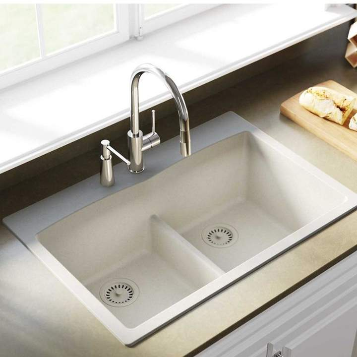 Elkay Quartz Classic 33 X 22 Double Basin Drop In Kitchen Sink