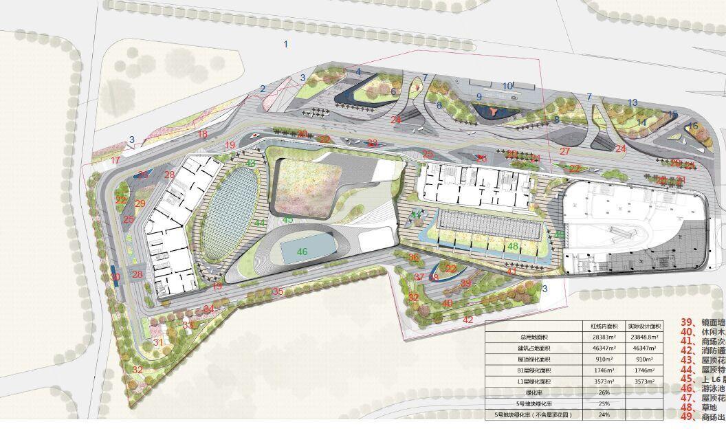 Shopping mall landscape la masterplan pinterest for Floor plan landscape