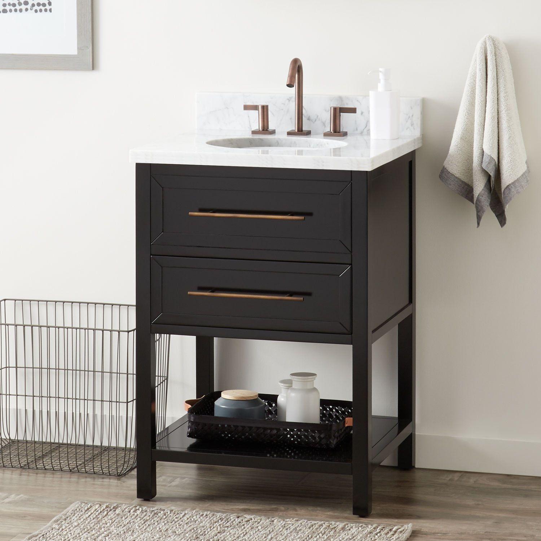 24 Robertson Console Vanity For Undermount Sink Black 24 Inch Bathroom Vanity Single Bathroom Vanity Home Depot Bathroom