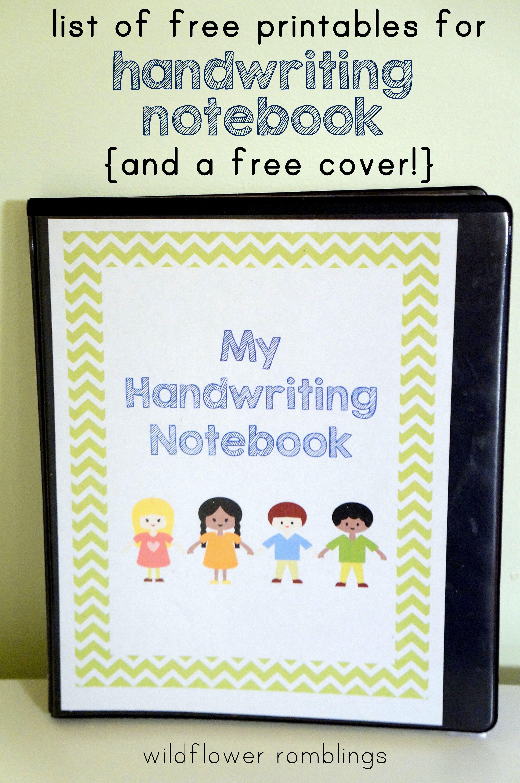 Preschool Handwriting Notebook free printable Preschool Handwriting