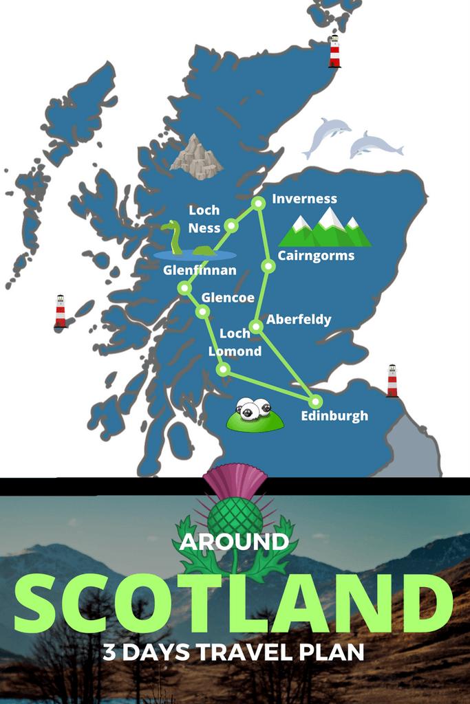 Best Of Scotland In 3 Days Itinerary Scottish Tours Scotland Traveloholic Scotland Tours Best Of Scotland Scottish Tours