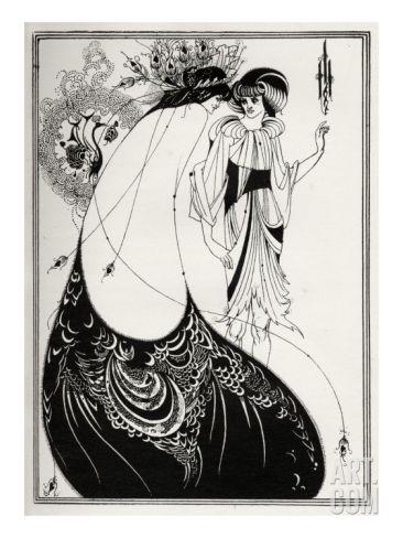 The Peacock Skirt' - Aubrey Beardsley 's illustration for 'salome ' by Oscar Wilde Giclee Print by Aubrey Beardsley at Art.com