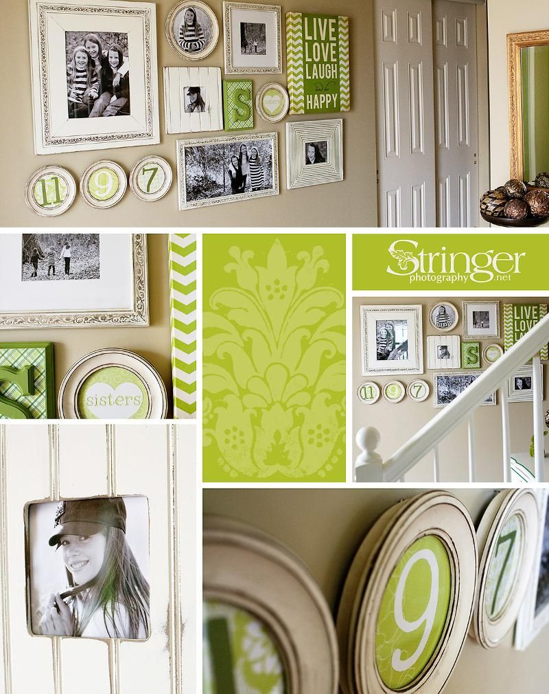 love this frame collage! Obrien Schriddle frames. Lori Stringer ad ...