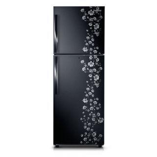 Samsung Rt26fajsabx Tl 253l Double Door Refrigerator Orcherry Pearl Black Double Door Refrigerator Double Doors Refrigerator