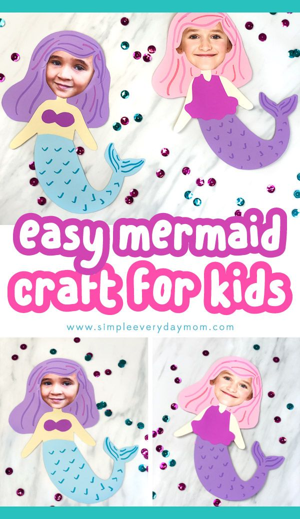 Easy Kids Craft For Girls | This photo mermaid craft is a quick, cheap and fun idea for summer! It also works well as an art project to do at school or an activity to do at a mermaid birthday party! #mermaids #easykidscrafts #kidscrafts #craftsforkids #kidsandparenting #ideasforkids #simpleeverydaymom #simplekidscrafts #summer #summercrafts #summeractivities #preschool #mermaidcrafts #kindergarten #elementary #girlscrafts #craftsforgirls #ideasforgirls #preschoolers #photocrafts #printables